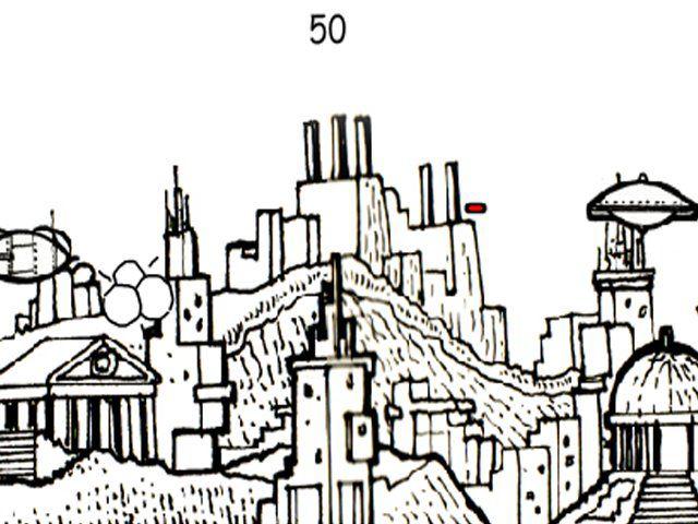 黑白色手绘都市